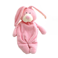 Wooly Organic Comforter Bunny Pink with Soother Holder