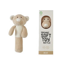 Wooly Organic Soft Teddy Rattle