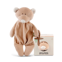 Wooly Organic Comforter Teddy with Soother Holder