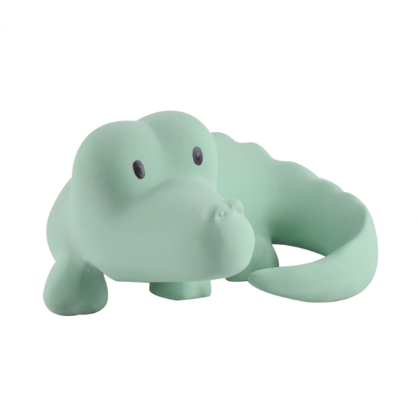 Tikiri Crocodile Natural Rubber Teether, Toy & Rattle