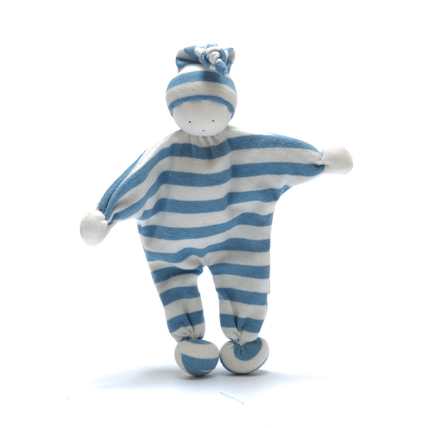 Organic Baby Buddy blue stripes