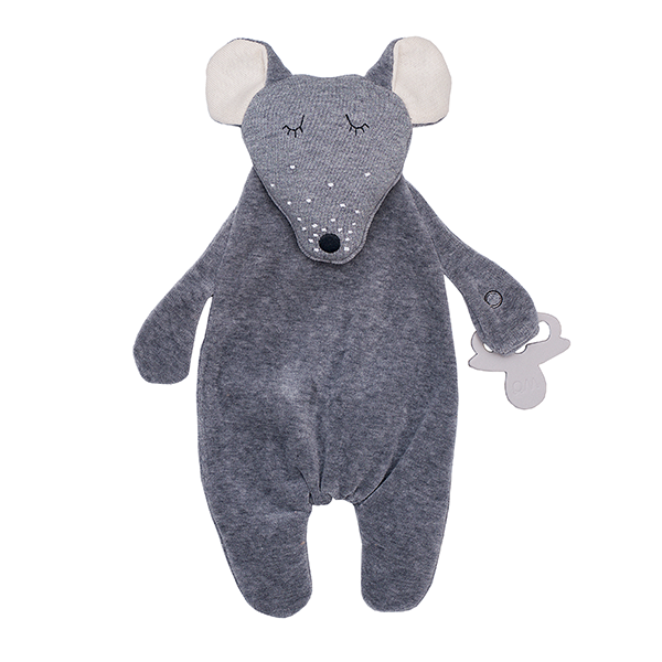 Wooly Organic Comforter Mouse with Soother Holder